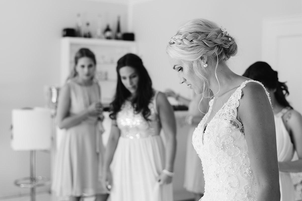 Vintage Hochzeitsreportage Getting Ready Braut